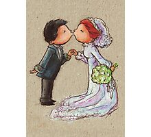 Wedding Kiss Photographic Print