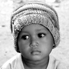 b/w khmer boy by Kate Harrison