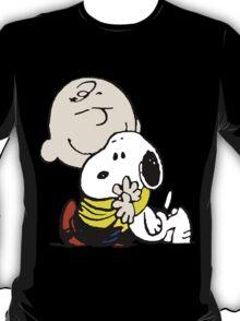 Charlie Brown hugs Snoopy T-Shirt