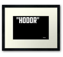 Game of Thrones - Hodor Framed Print