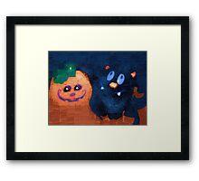 Spooky smiles Framed Print