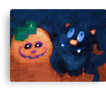Spooky smiles Canvas Print