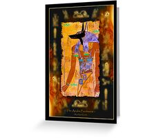 """""""The Anubis Parchment"""" Greeting Card"""