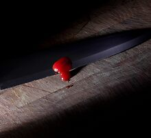 Sharp Knife with Blood by Tim Smith