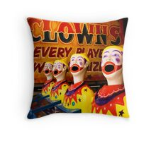 Laughing in Adversity. Throw Pillow