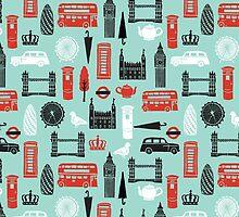 London Block Print by Andrea Lauren by Andrea Lauren