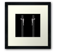NES Zapper Leggings by Jango Snow Framed Print