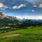 Panoramic view at Scuol by peterwey