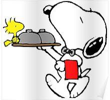 Snoopy Bellboy Poster