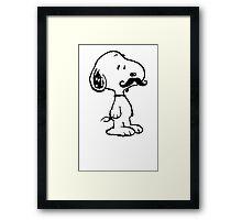 Mustache Snoopy Framed Print