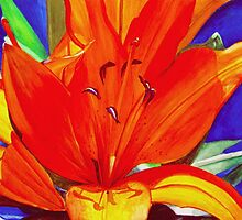 Big Orange Lily by Leslie Gustafson