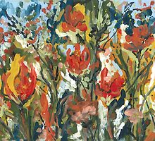 Abstract Tulips by Robin (Rob) Pelton