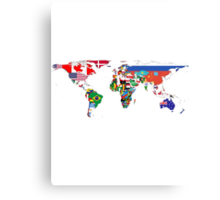The World Flag Map Metal Print