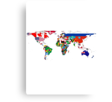 The World Flag Map Canvas Print