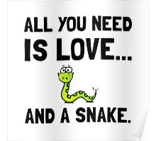 Love And A Snake Poster