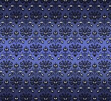 Owl, Ghost and Cyclops Monster Pattern Art by Dadang Lugu Mara Perdana
