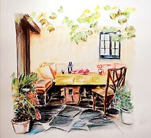 Spanish Patio Set for Drinks by Steven James