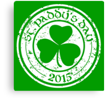 St. Paddy's Day 2015 Canvas Print
