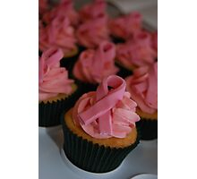 Pink Breast Cancer Awareness Cupcakes Photographic Print