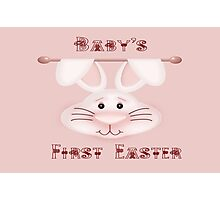 Baby Girl's  First Easter Photographic Print