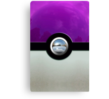 Gengar Monster Purple Pokeball Canvas Print