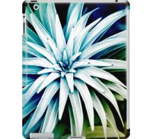 Blue Spiral Plant Abstract Art iPad Case/Skin