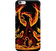 Charizard fire evolutions cool design iPhone Case/Skin