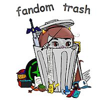 Fandom Trash Logo Photographic Print