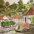 Brantome , Perigord Vert France ( Watercolour ) by Irene  Burdell
