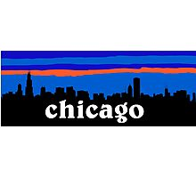 Chicago, skyline silhouette Photographic Print