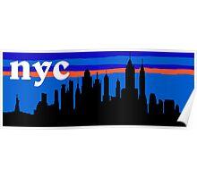 NYC, skyline silhouette Poster