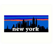New york, skyline silhouette Art Print