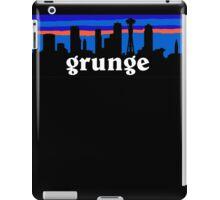 Grunge, Seattle skyline silhouette. iPad Case/Skin