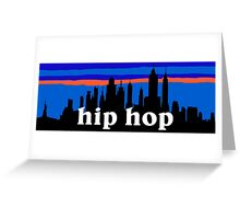 Hip Hop, NYC skyline silhouette Greeting Card