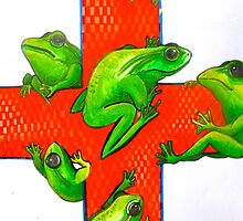 save the frogs red cross by melaniedann