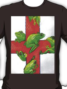 save the frogs red cross T-Shirt