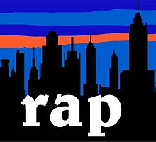 RAP, NYC skyline silhouette by mustbtheweather