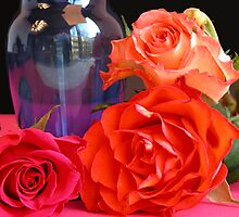 Still life with colorful roses by CanDuCreations