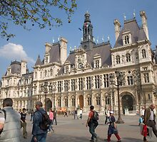 Hotel de Ville, the town hall, Paris, France by Andrew Duke