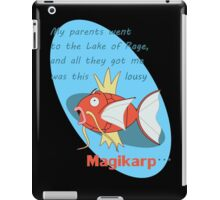 my parents went to the lake of rage iPad Case/Skin