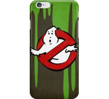 """I ain't afraid of no ghost"" Ghostbusters Stay Puft Mashmallow Man Green Slime Slimer iPhone Case/Skin"