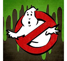 """""""I ain't afraid of no ghost"""" Ghostbusters Stay Puft Mashmallow Man Green Slime Slimer Photographic Print"""