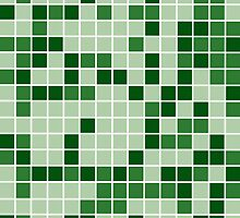 Modern Geometric Green Squares by CanisPicta