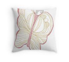 Metallic Butterfly Throw Pillow