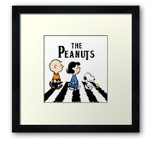 Peanuts Beatles Framed Print