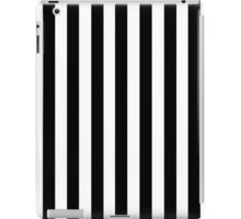 Black White Stripe Bedspread iPad Case/Skin