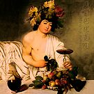 Bacchus - Michelangelo Merisi da Caravaggio by fuxart