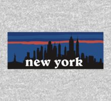 New york, skyline silhouette Kids Clothes