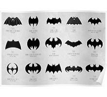 the evolution of batman logos  Poster