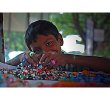 Prakash - Bangle Seller Photographic Print